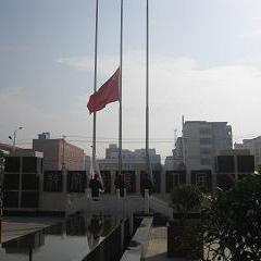 我公司项目区举行周年庆典升旗仪式